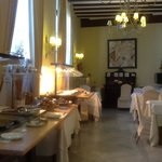 The breakfast situation, cold meats buffet
