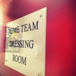 Home team dressing room