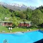 Valle de Liébana y Picos de Europa desde la habitación del Hotel del Oso.