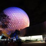 Beautiful shot of the Epcot ball at night!