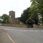 Church opposite the pub