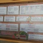 cartel de los menus