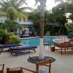 Apartments around the pool