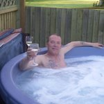 wine and hot tub