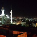 The local mosque from the terrace restaurant