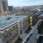 La vue du toit- terrasse