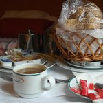 Juice, Coffee/Tea and Bread Basket in our Room