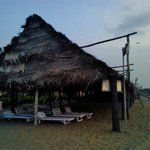 A thatched spot on their private beach which can be used for playing games
