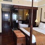 View of classy room interior decor and bath (divine tub!)