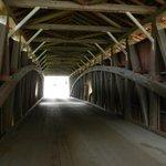 Near a covered bridge