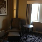 Furniture in our stylish deluxe room - the hotel is all new