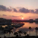 sunrise from Pier House 60 Hotel balcony...picture perfect....gorgeous