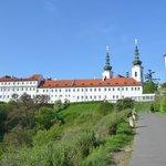 Monastery behind hotel
