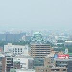 JRセントラルタワーから見た名古屋城