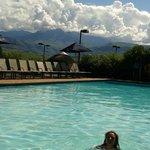 Pool with Drakensberg Mountains in the background