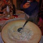 risotto servito nella forma di grana.... libidine!