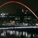 The Millenium Bridge at night