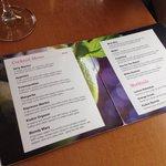 The wonderful cocktail menu