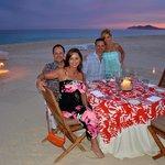 Unforgettable dinner on the beach