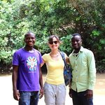 Tour guides Moses and Emmanuel