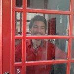 Inside Ziggy's telephone box (not the real Ziggy inside!)