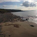 Pebble beach 10 mins walk away