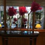 Flowers in lobby