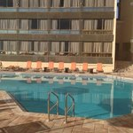Ground floor pool (north tower on right, south tower left)