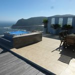 Jaccuzzi on your private terrace with Knysna heads in background