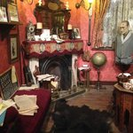The replica of Holmes' and Watson's sitting room and study.