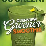 Our all natural Glenview Greener Smoothie is a hit!