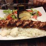 Chicken beyti kebab