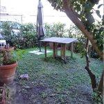 un lato del giardino