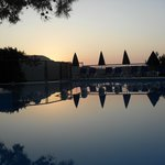 Sunset by Pool and Bar