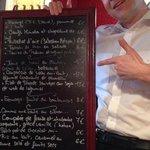 menu for Sunday 4 May 2014
