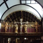 Ninian Comper screen in Little Petherick Church