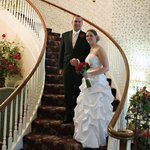 Here Comes the Bride... on the Curved Staircase