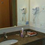 Banheiro limpo.