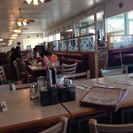 "Inside the ""Times Three"" family restaurant."