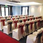 Beautiful civil wedding set up