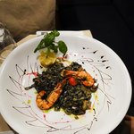 Black Linguini with Sea Food
