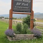 Front Sign to TetonValley RV Park