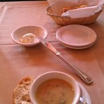 Soup or salad and bread