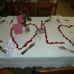 Merci à Jamel et Chouchou pour cette très jolie table