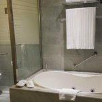 Very OPEN bathroom - clear toilet walls!