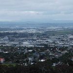 Auckland city skyline from One Tree Hill