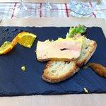 une petite entrée de foie gras