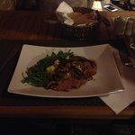 boeuf sauce champignon & crème aux truffes
