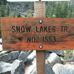 Snow Lakes Trail and the Alpine Lakes Wilderness = 5 miles.