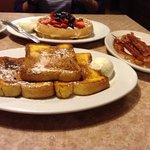 Waffles, French Toast and baconnn